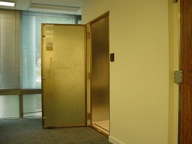 ... x 7 ft. clear opening and our double door provides a 6 ft. x 7 ft. clear opening. However all doors can be custom fabricated to the sizes requested. & Shielded Doors pezcame.com